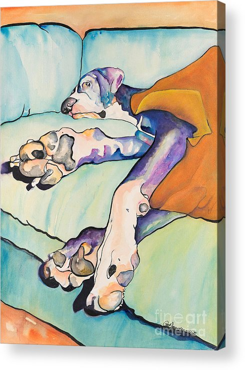 Pat Saunders-white Acrylic Print featuring the painting Sweet Sleep by Pat Saunders-White