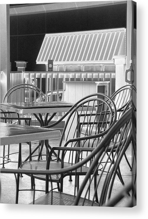 Tables Acrylic Print featuring the photograph Tables and Chairs by Paul Trunk