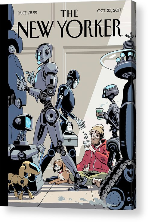Tech Support Acrylic Print featuring the drawing Tech Support by R Kikuo Johnson