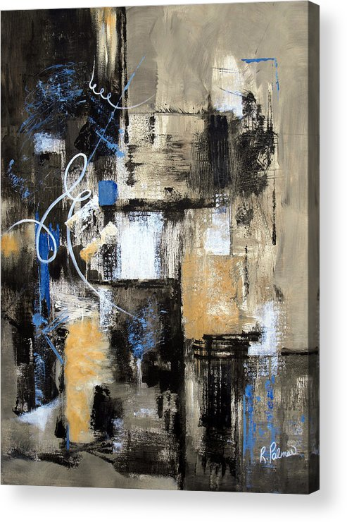 Abstract Acrylic Print featuring the painting Testing The Waters by Ruth Palmer