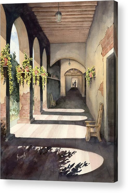 Plants Acrylic Print featuring the painting The Corridor 2 by Sam Sidders