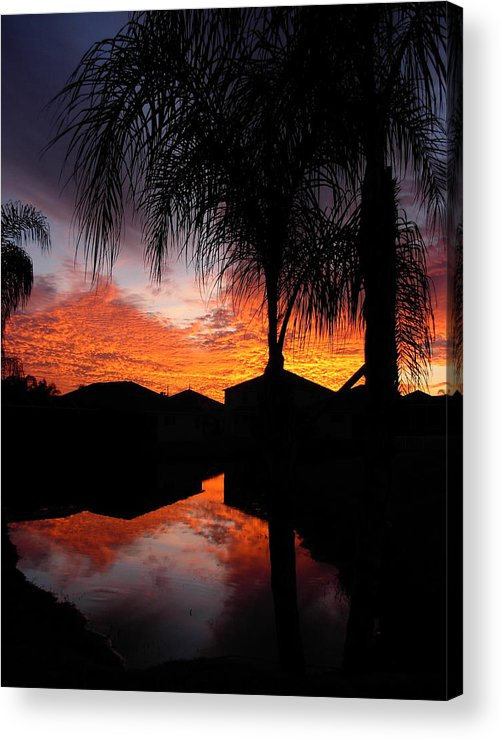 Sunsets Acrylic Print featuring the photograph The Devil's Reflection by Amanda Vouglas