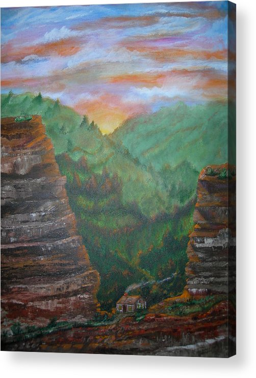 Landscape Acrylic Print featuring the painting The End of the Journey by Jack Hampton