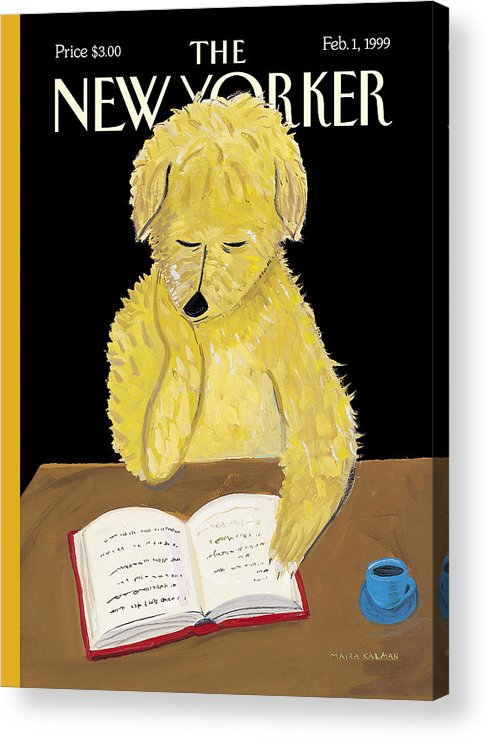 Animals Acrylic Print featuring the photograph The New Yorker Cover - February 1, 1999 by Maira Kalman