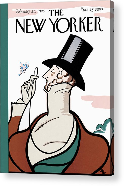 Logo Acrylic Print featuring the painting New Yorker February 21st, 1925 by Rea Irvin