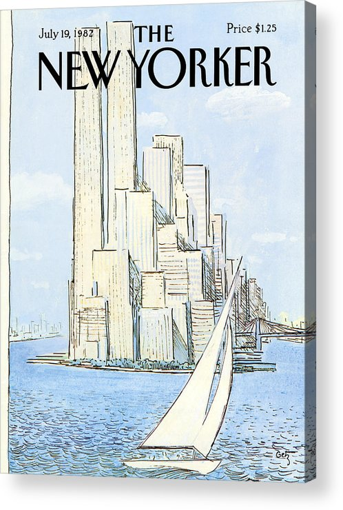 Regional Acrylic Print featuring the painting New Yorker July 19th, 1982 by Arthur Getz