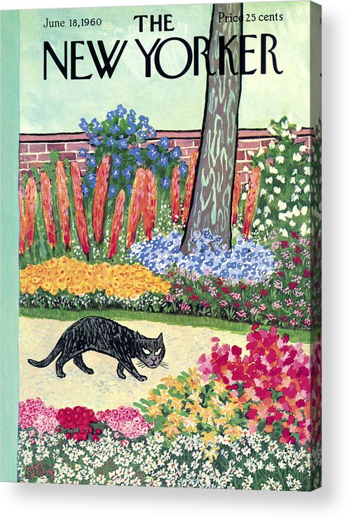 Animals Acrylic Print featuring the painting New Yorker Cover - June 18, 1960 by William Steig