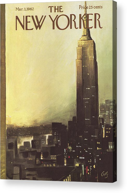 Arthur Acrylic Print featuring the painting The New Yorker Cover - March 3rd, 1962 by Arthur Getz