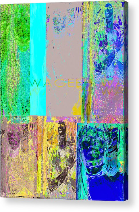 Story Acrylic Print featuring the painting Transfiguration by Noredin Morgan