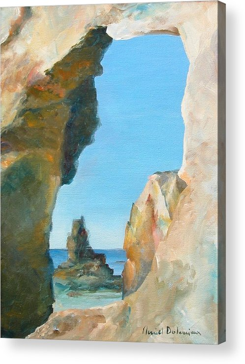 Paysage Acrylic Print featuring the painting Trouee 1 by Muriel Dolemieux