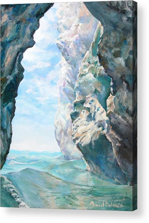 Landscape Paintings Acrylic Print featuring the painting Trouee 2 by Muriel Dolemieux