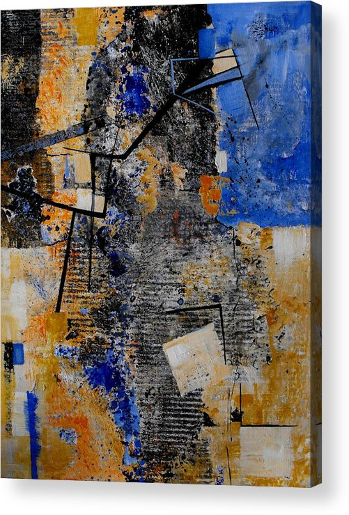 Abstract Acrylic Print featuring the painting Under Construction by Ruth Palmer