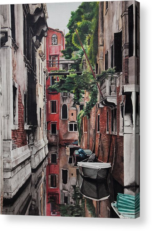 Italy Acrylic Print featuring the painting Venice by Lamark Crosby