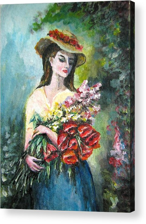 Abstract Acrylic Print featuring the painting Victorian Lady by Natalja Picugina
