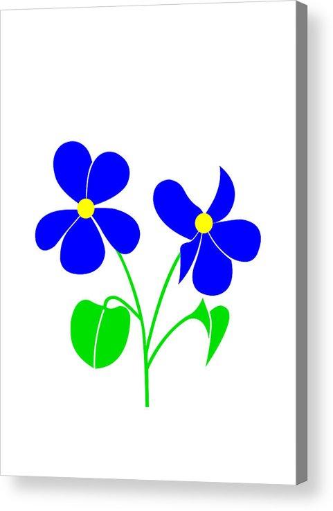 Violet Acrylic Print featuring the digital art Violet by Asbjorn Lonvig