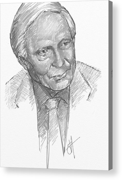 William Acrylic Print featuring the digital art W. S. Merwyn by Scott Waters