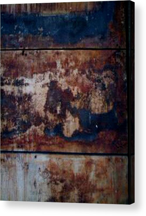 Wall Acrylic Print featuring the photograph Wall By Wood by Carole Guillen