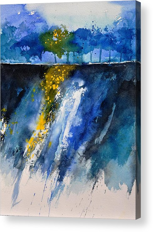 Abstract Acrylic Print featuring the painting Watercolor 119001 by Pol Ledent