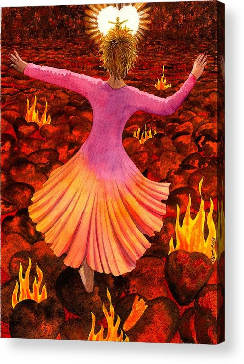 Valentine Acrylic Print featuring the painting What We Do For Love by Catherine G McElroy