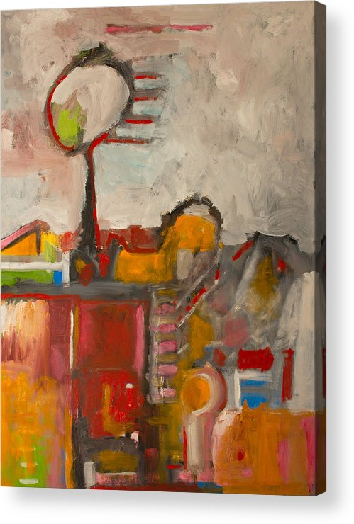 Abstract Acrylic Print featuring the painting Woman in the Wind by Michael Henderson