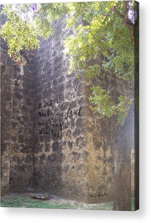 Faith Acrylic Print featuring the photograph Wrong Turn by Diana Valadez