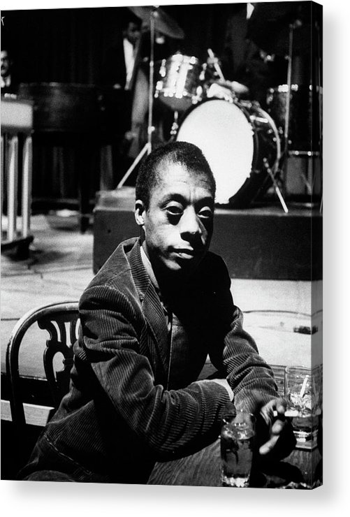 Timeincown Acrylic Print featuring the photograph James Baldwin by Carl Mydans