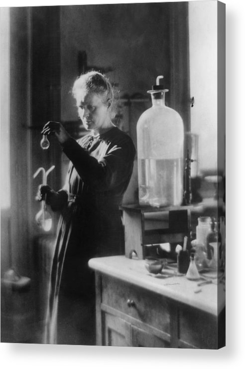 Marie Curie - Physicist Acrylic Print featuring the photograph Marie Curie by Hulton Archive