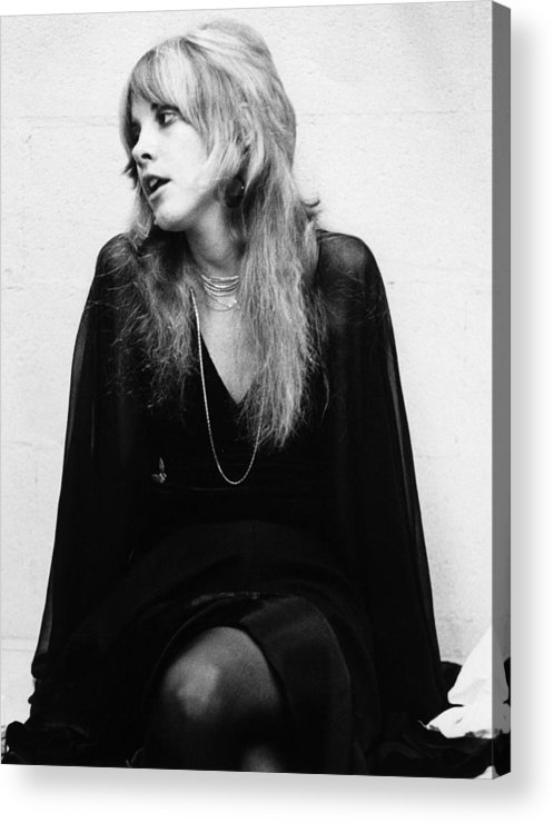 Music Acrylic Print featuring the photograph Photo Of Stevie Nicks And Fleetwood Mac by Fin Costello