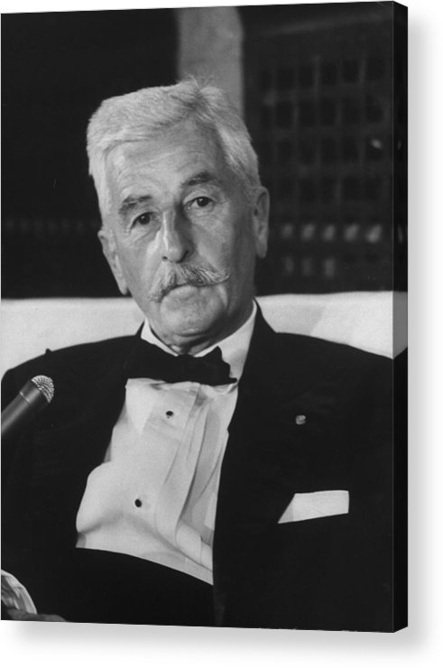 Timeincown Acrylic Print featuring the photograph William Faulkner by Carl Mydans