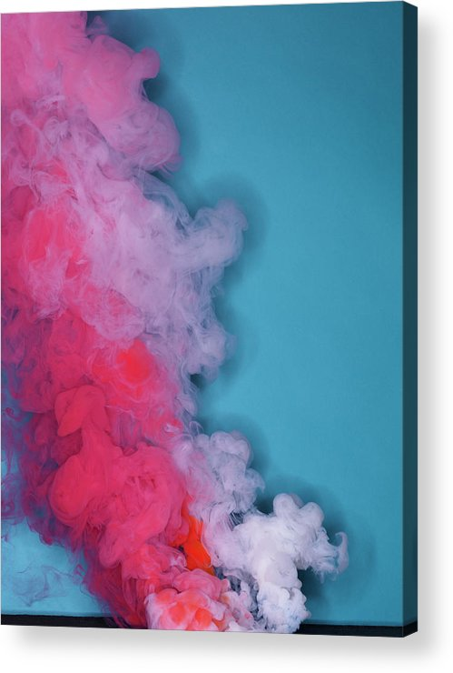 Motion Acrylic Print featuring the photograph Colored Smoke by Henrik Sorensen