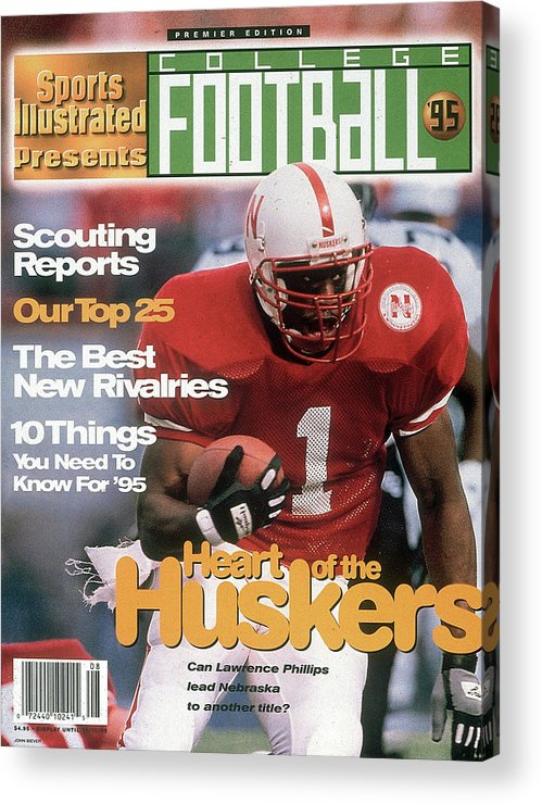Motion Acrylic Print featuring the photograph 1995 College Football Preview Issue Sports Illustrated Cover by Sports Illustrated