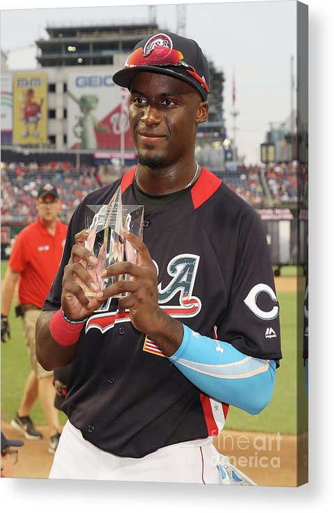 People Acrylic Print featuring the photograph Siriusxm All-star Futures Game by Rob Carr