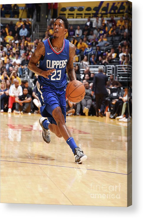 Nba Pro Basketball Acrylic Print featuring the photograph La Clippers V Los Angeles Lakers by Andrew D. Bernstein