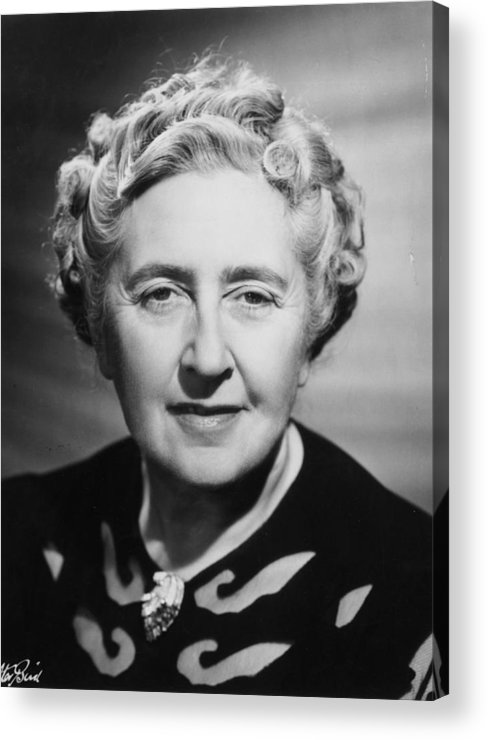 People Acrylic Print featuring the photograph Agatha Christie by Walter Bird