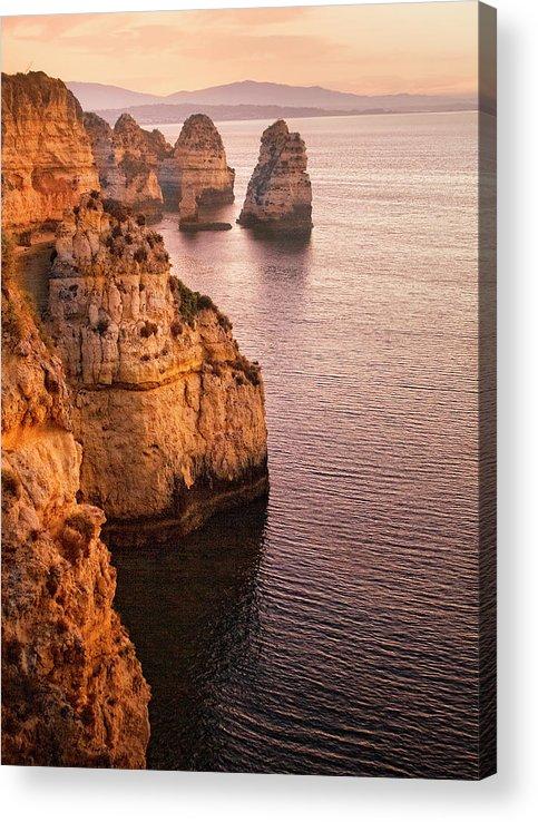 Algarve Acrylic Print featuring the photograph Algarve Coastline, Lagos, Portugal by Zu Sanchez Photography