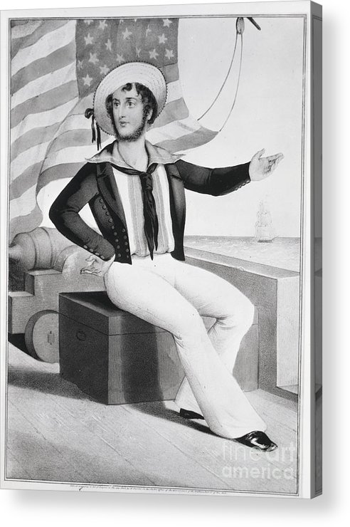 People Acrylic Print featuring the photograph American Sailor Lithograph by Bettmann