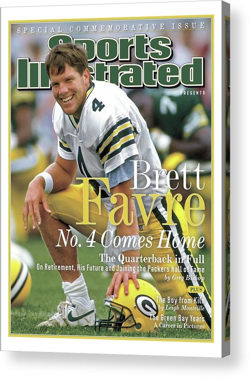 De Pere Acrylic Print featuring the photograph Brett Favre, No. 4 Comes Home Special Commemorative Issue Sports Illustrated Cover by Sports Illustrated
