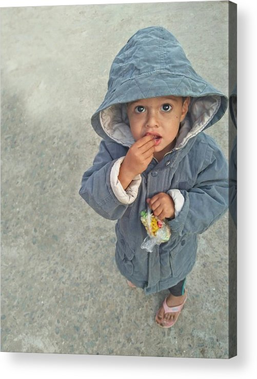 Cute Acrylic Print featuring the photograph Cute baby by Imran Khan