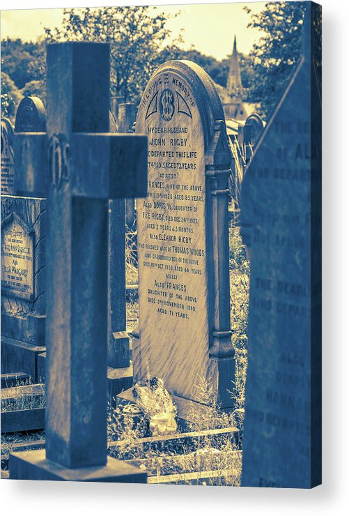 Eleanor Acrylic Print featuring the photograph Eleanor Rigby Died in a Church and Was Buried by Sallye Wilkinson