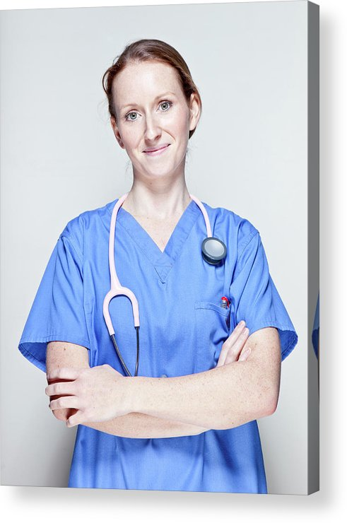People Acrylic Print featuring the photograph Female Doctor by James Whitaker