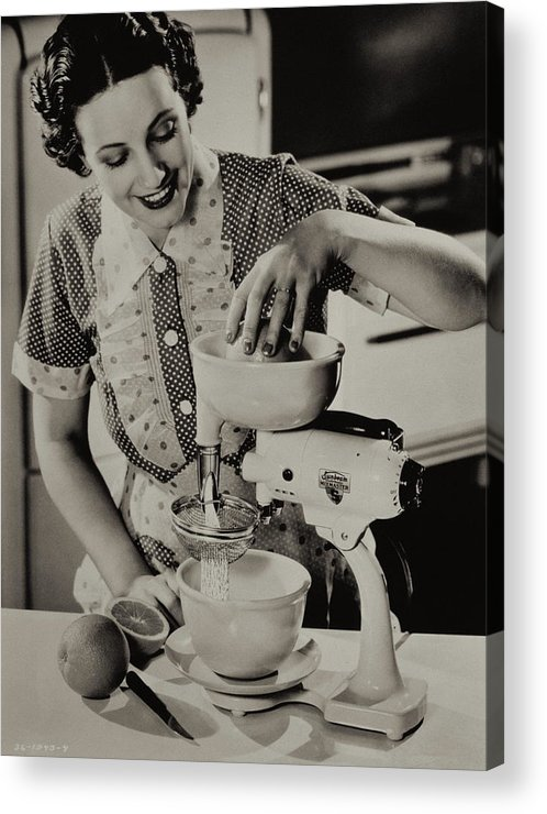 Caucasian Ethnicity Acrylic Print featuring the photograph Fresh Squeezed by Archive Holdings Inc.