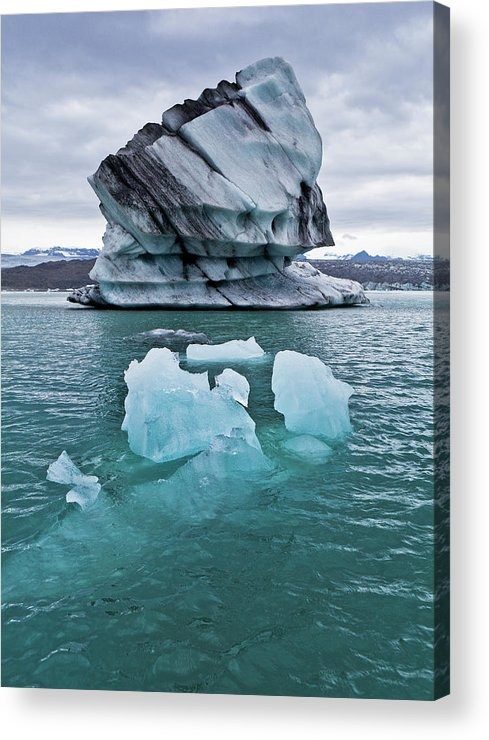 Iceberg Acrylic Print featuring the photograph Icebergs On Jokulsarlon Glacial Lagoon by Arctic-images