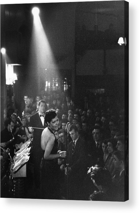 Singer Acrylic Print featuring the photograph Lady Day by Charles Hewitt