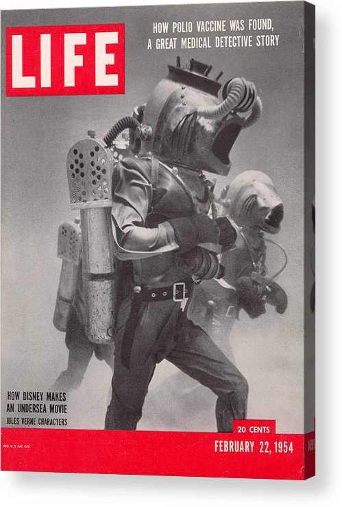 Underwater Acrylic Print featuring the photograph Life Cover 02-22-1954 Underwater Shot by Peter Stackpole