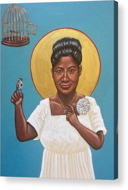 Acrylic Print featuring the photograph Mahalia Jackson by Kelly Latimore