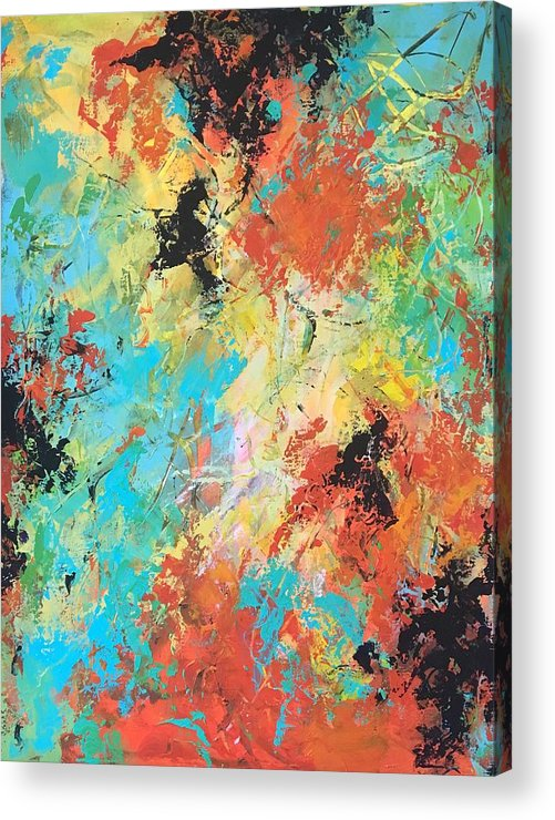 Abstract Acrylic Print featuring the painting Making Wishes by Suzzanna Frank
