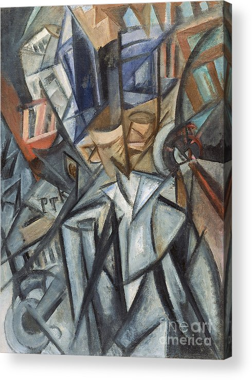 Oil Painting Acrylic Print featuring the drawing Man On The Street Analysis Of Volumes by Heritage Images