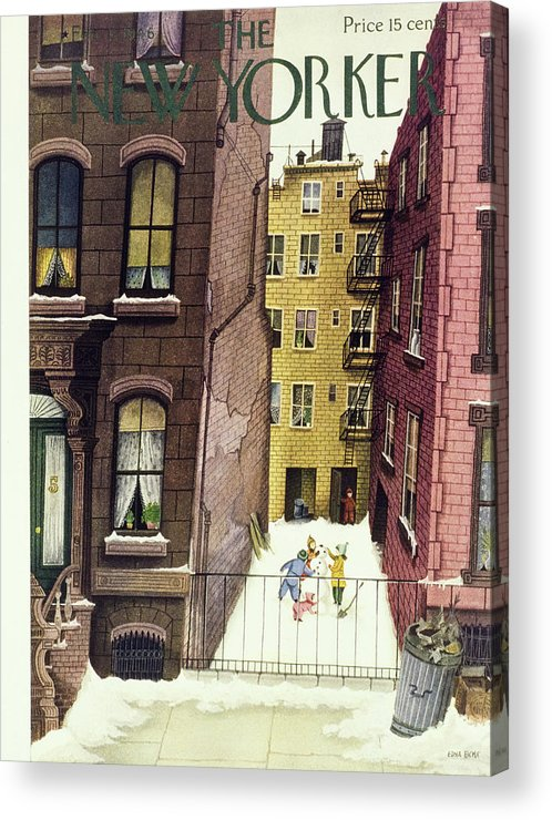 Illustration Acrylic Print featuring the painting New Yorker February 2, 1946 by Edna Eicke