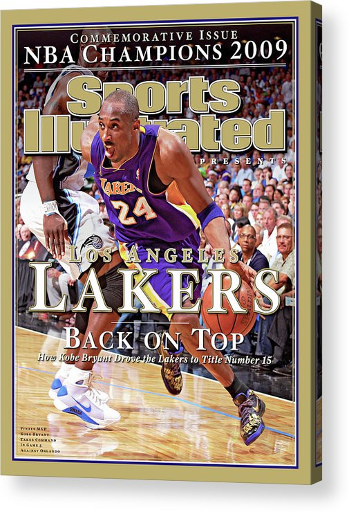 Playoffs Acrylic Print featuring the photograph Orlando Magic Vs Los Angeles Lakers, 2009 Nba Finals Sports Illustrated Cover by Sports Illustrated