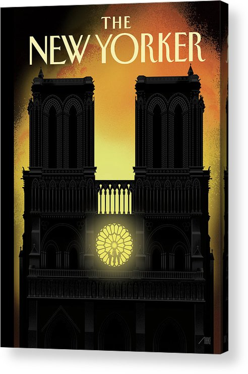 Our Lady Acrylic Print featuring the painting Our Lady by Bob Staake